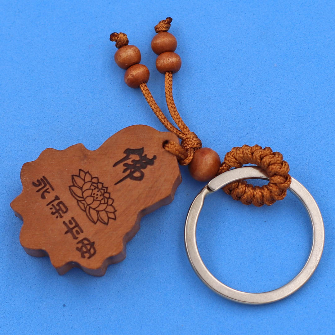 Móc khóa gỗ thủ công - làm từ gỗ hương - thích hợp tặng bạn bè và người thân