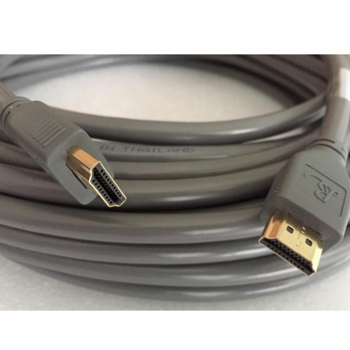 Dây cáp HDMI Romywell Thái Lan chuẩn 4K 2.0 dài 20m màu xám - Hàng Nhập Khẩu