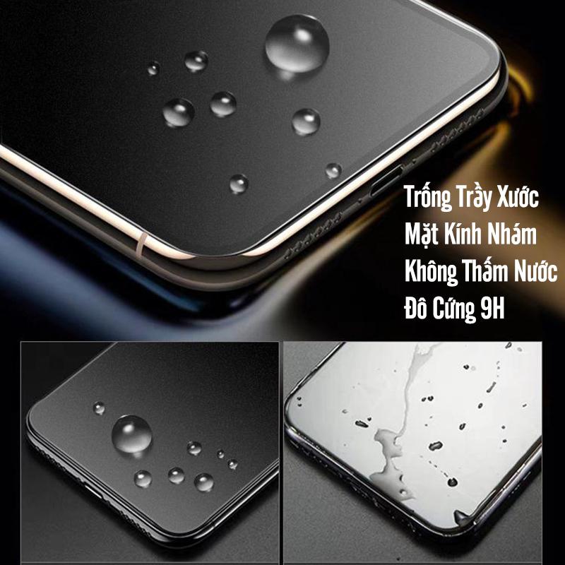 Kính cường lực cho Xiaomi Redmi Note 9S - Note 9 Pro chống vân tay Full viền Đen