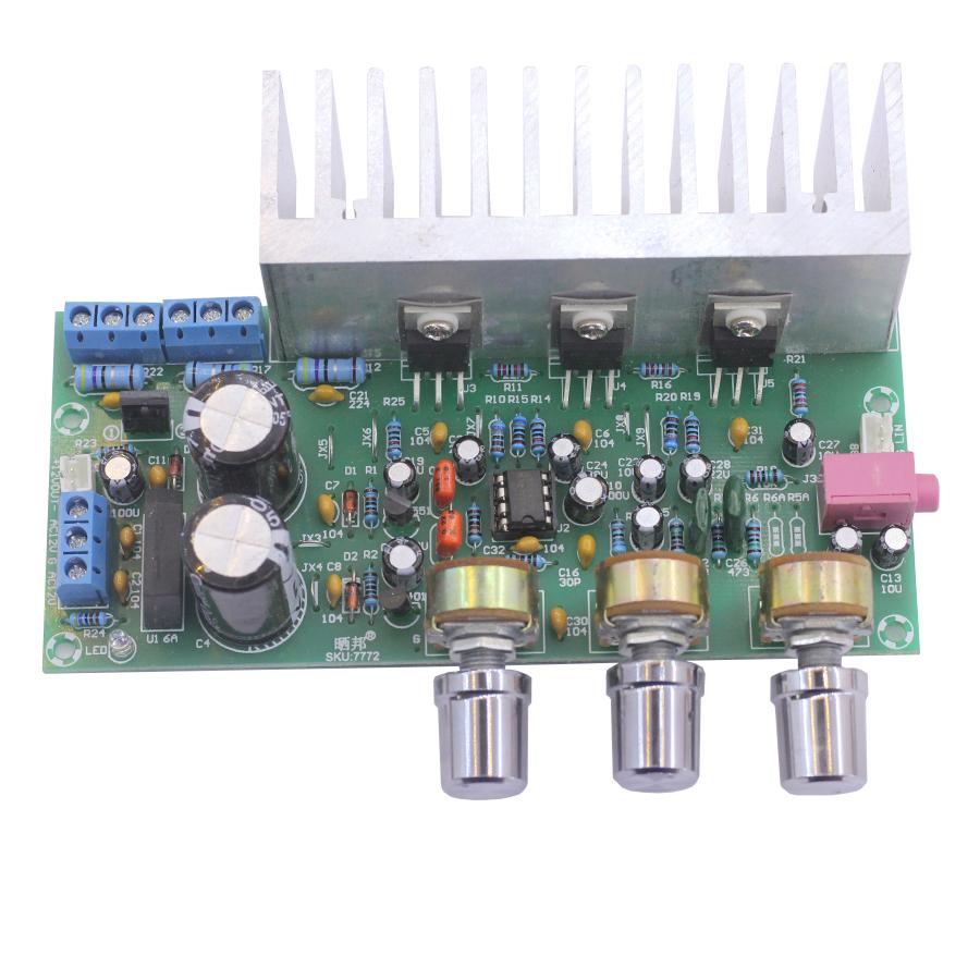 Module khuếch Đại Âm Thanh TDA2030+TDA2050 2.1 3Chanel 60W Siêu Trầm
