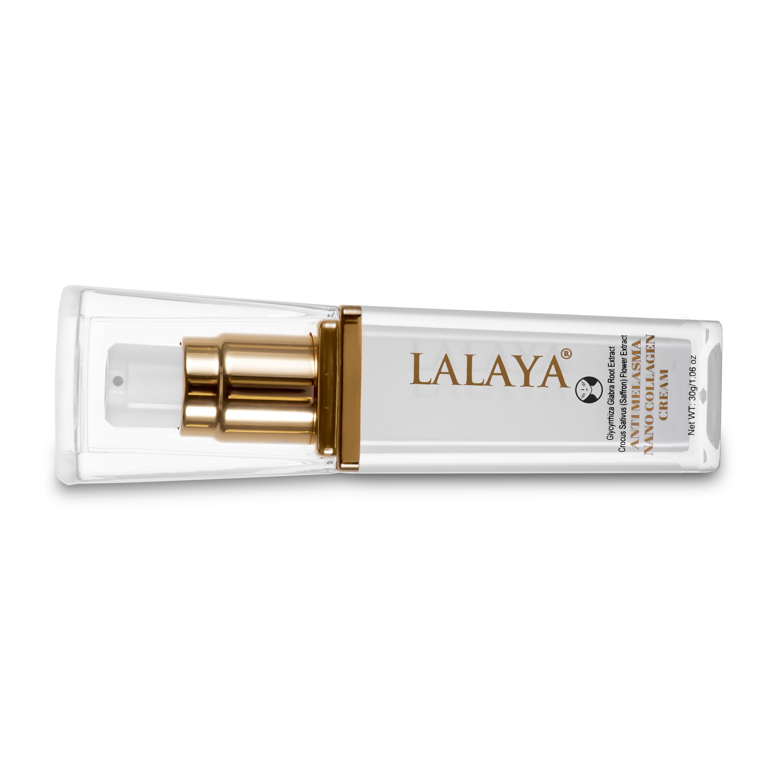 Bộ đôi Kem giảm nám tái tạo làm trắng da Lalaya Anti Melasma Nano Collagen Cream và Sữa rửa mặt tạo bọt dịu nhẹ làm sạch sâu & giảm nhờn công thức không xà phòng Lalaya Rich Moist Foaming Cleanser LLYC2