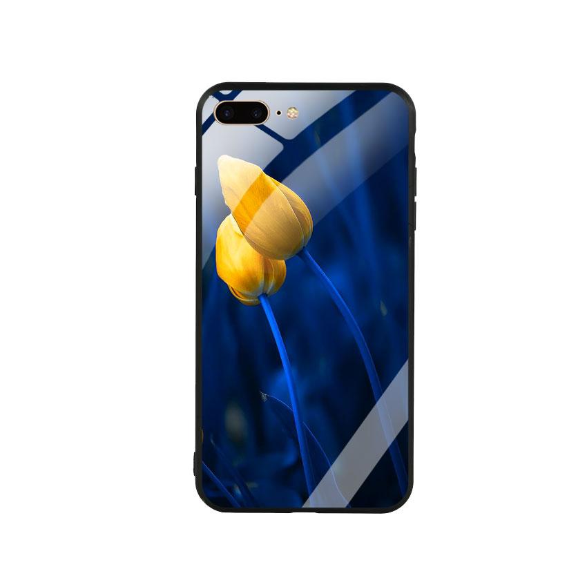 Ốp Lưng Kính Cường Lực cho điện thoại Iphone 7 Plus  8 Plus - Tulip 03