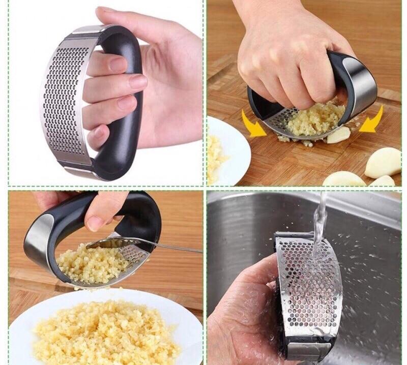 Dụng cụ ép tỏi, nghiền tỏi có tay cầm tiện dụng