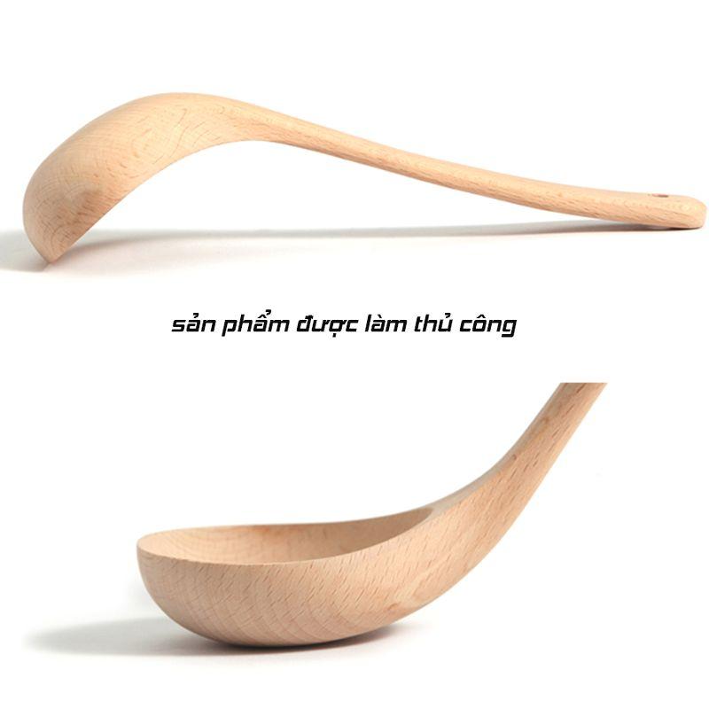 Bộ 2 môi múc canh gỗ dừa cán dài loại lớn GS00854