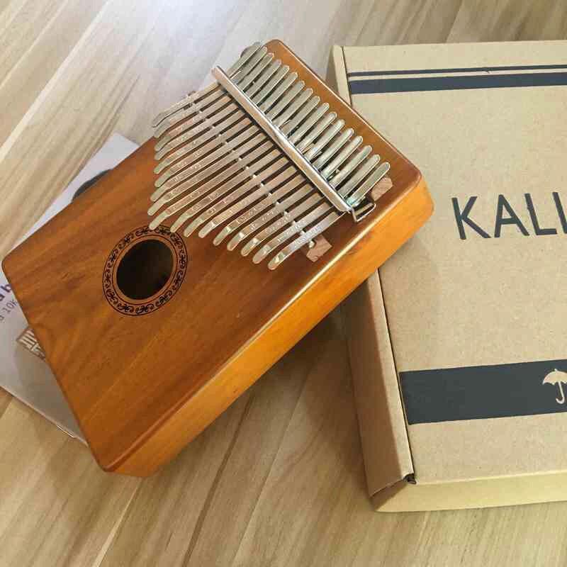 ĐÀN KALIMBA GỖ MAHOGANY CAO CẤP 17 phím-Tặng full phụ kiện