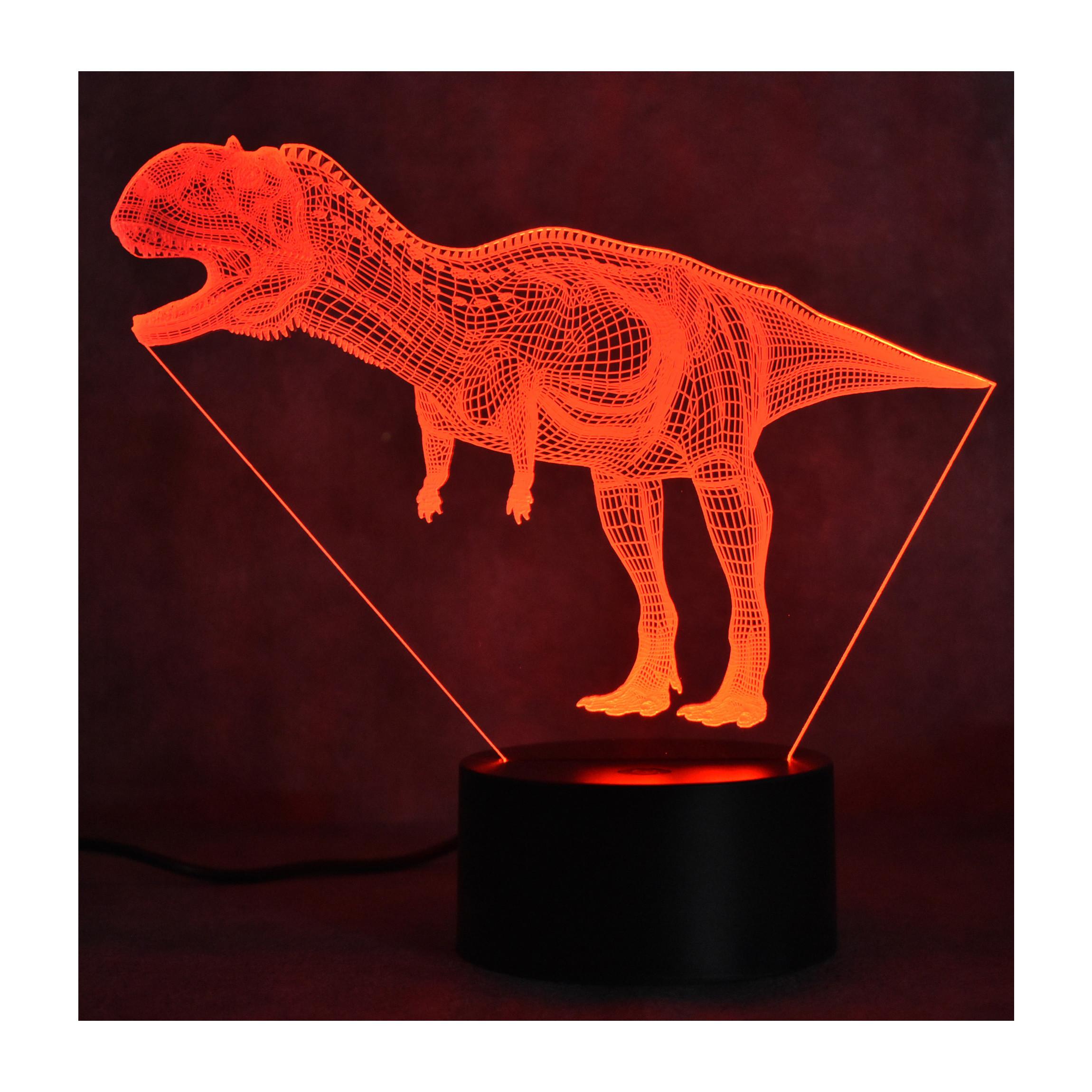 Đèn ngủ 3D - Khủng long công tắc cảm ứng