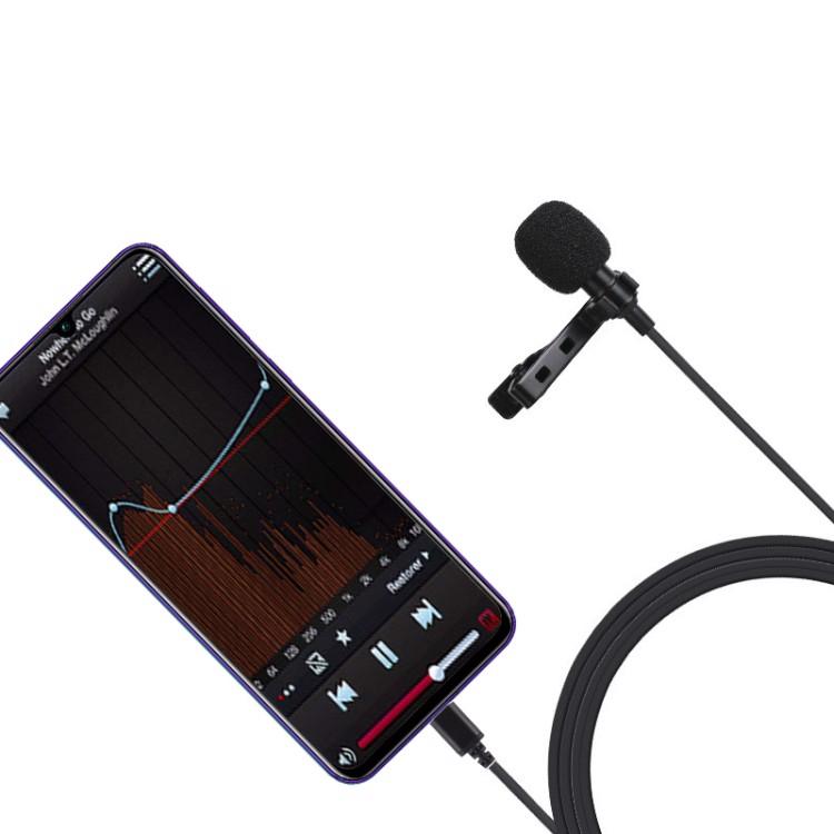 Bộ micro thu âm, livestream đầu Type C, dây 1.5m Puluz PU425 - Hàng nhập khẩu