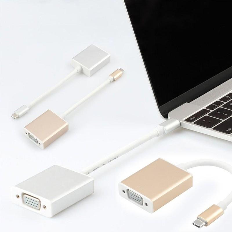 Cáp USB Type C to VGA cho Macbook