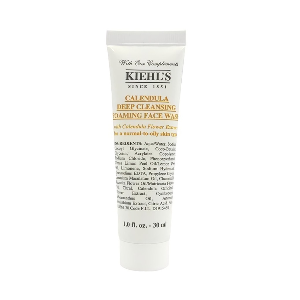 Kiehl's Calendula Deep Cleansing Foaming Face Wash – Gel Rửa Mặt Chiết Xuất Hoa Cúc 30ml