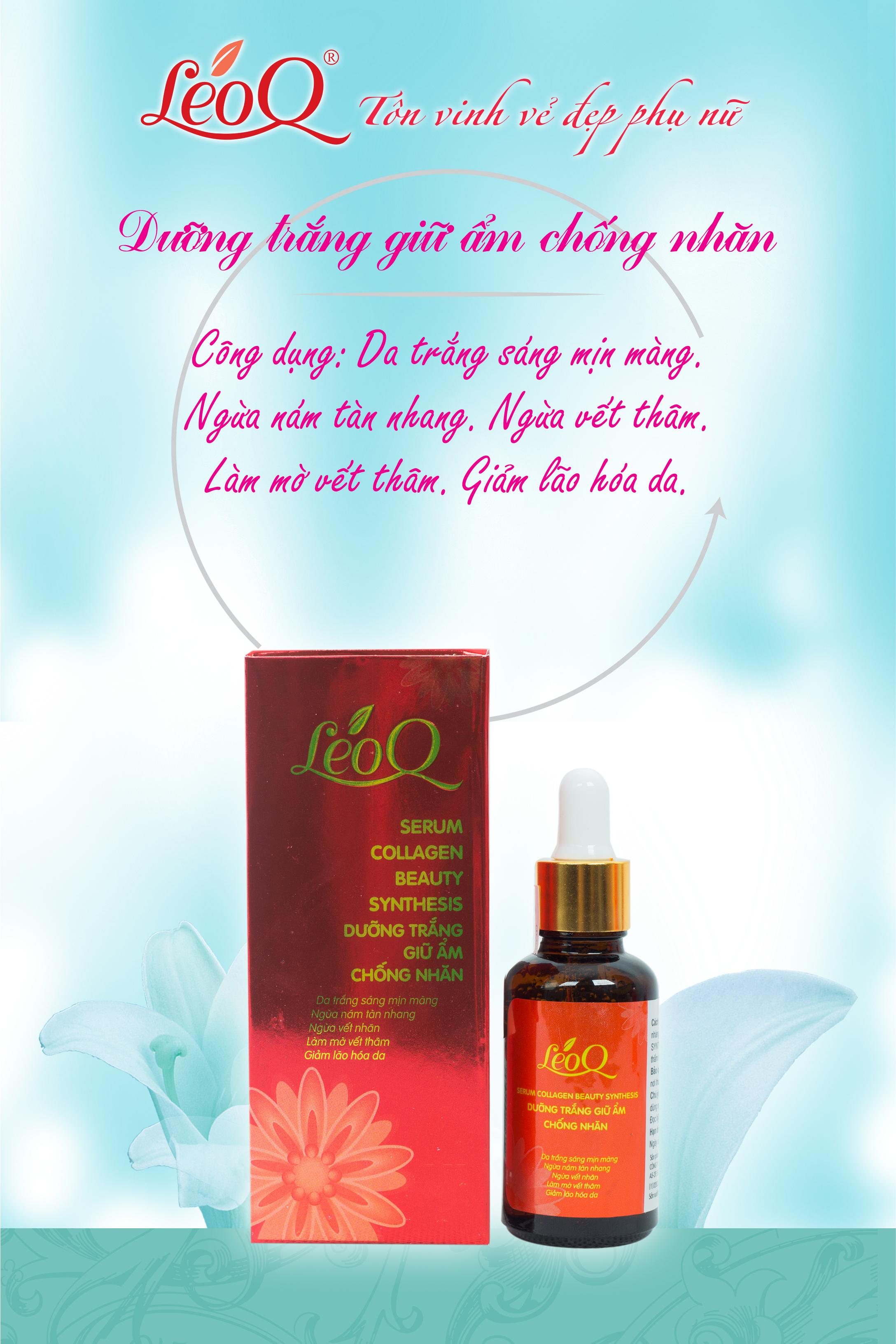 Serum Dưỡng trắng giữ ẩm, giúp giảm nhăn 30ml LeoQ