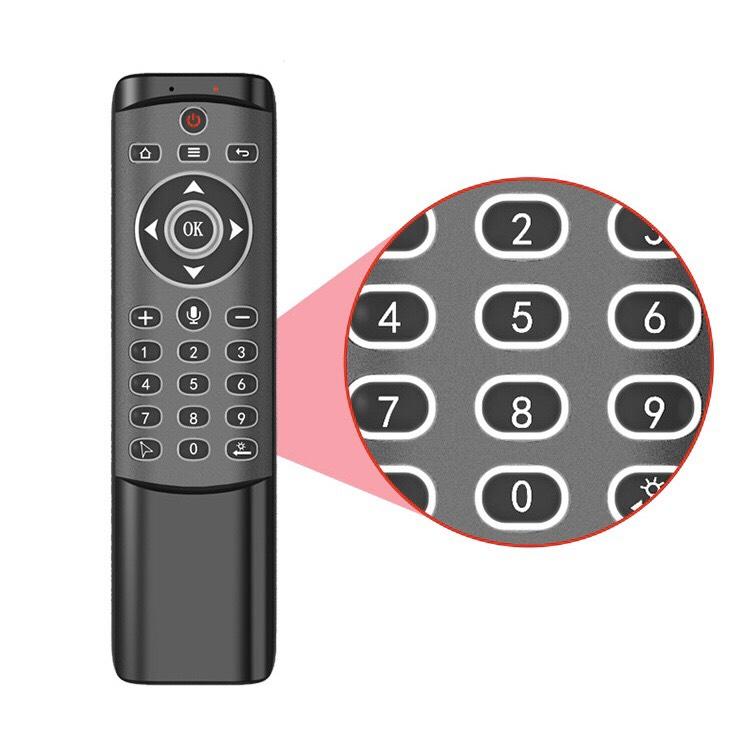 Chuột Bay MT1 (Có Phím Số Và LED Nền) Tìm Kiếm Giọng Nói 1 Chạm 1 Nút Học Lệnh