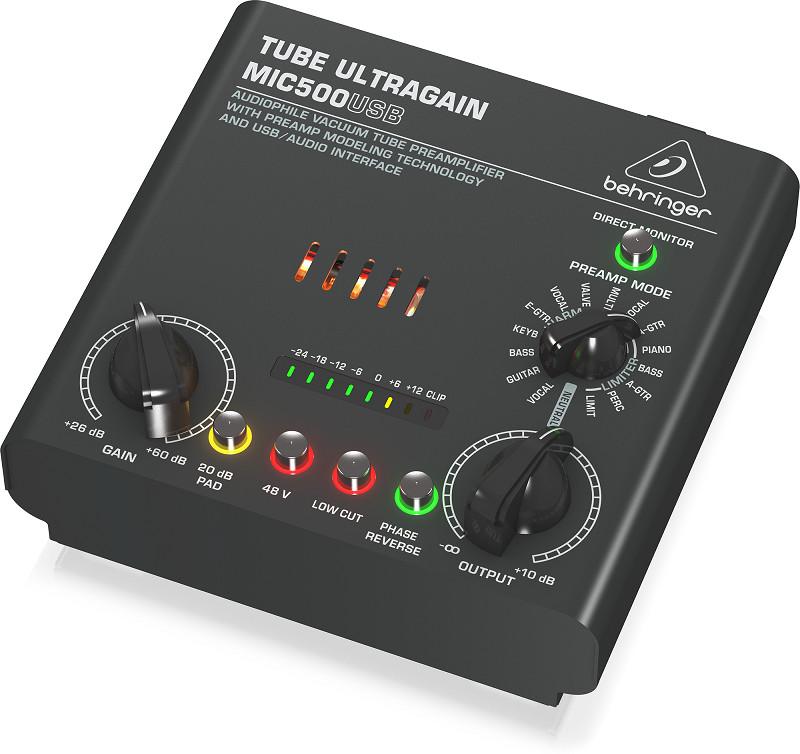Signal Processors Behringer MIC500USB- Microphone Preamplifiers- Hàng chính hãng