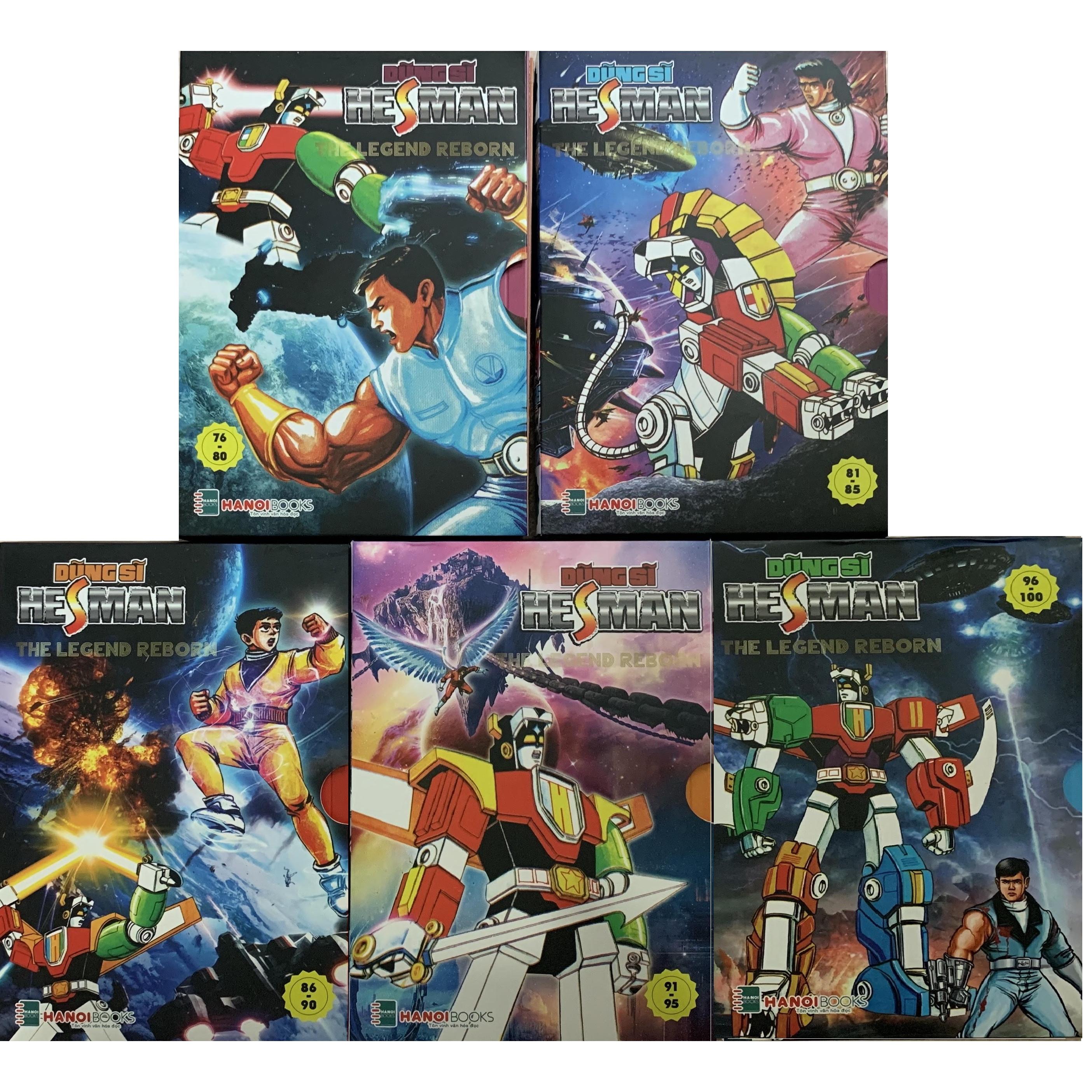 Dũng sĩ Hesman - Combo 5 Box 16,17,18,19,20 (từ tập 76-100)
