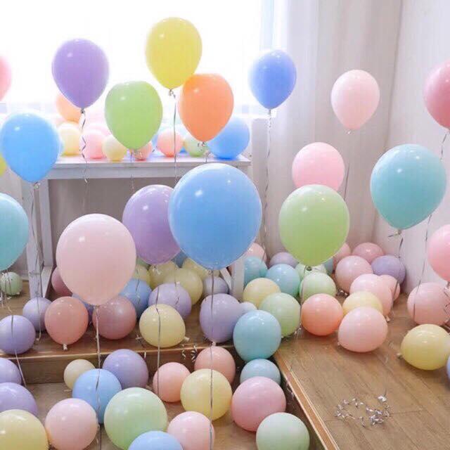 Combo 50 bóng bay trang trí sinh nhật, đám cưới tông màu pastel siêu đẹp Macaron-102 (pha màu ngẫu nhiên)