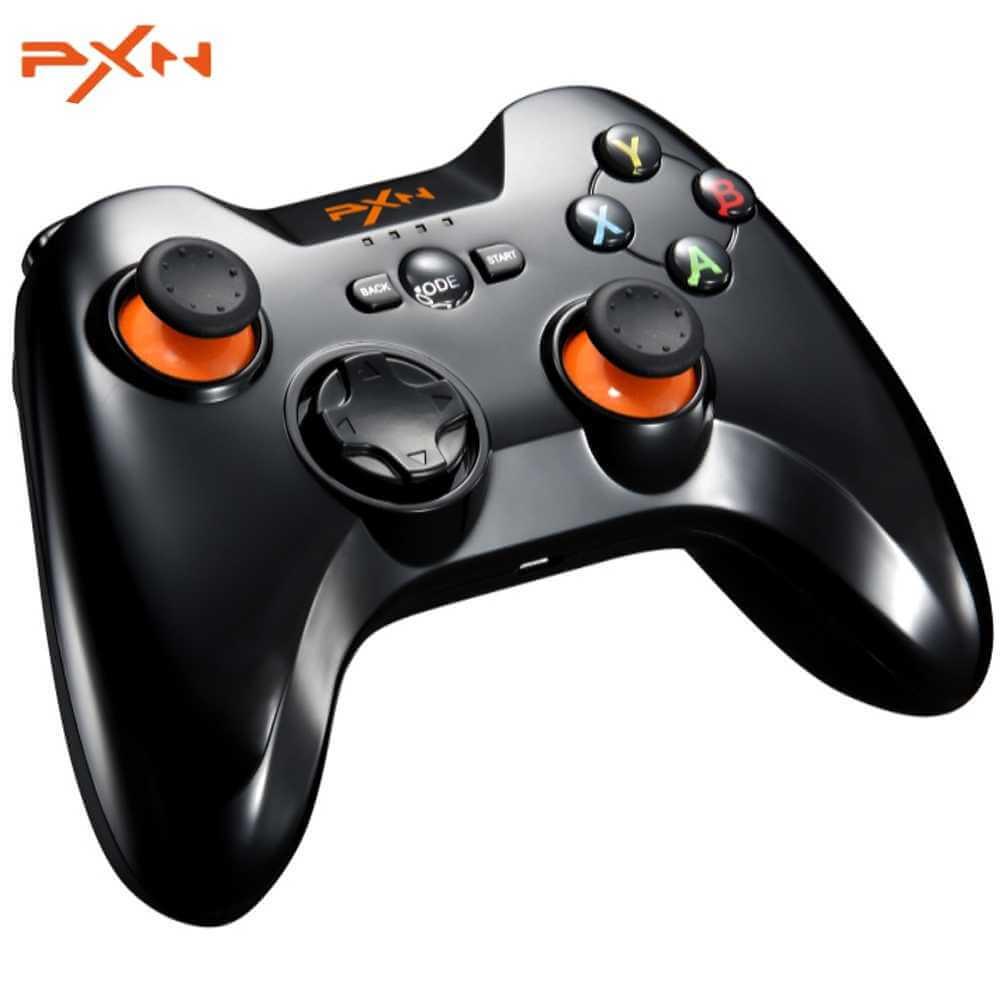 Tay cầm chơi game không dây PXN 9613 Black Bluetooth Wireless - Hàng Chính Hãng
