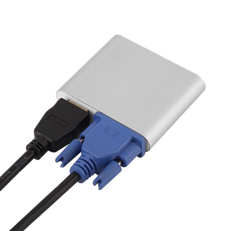 Bộ xuất hình ảnh ra cổng HDMI và VGA cho Android và IOS Aturos OT-91 - Hàng nhập khẩu