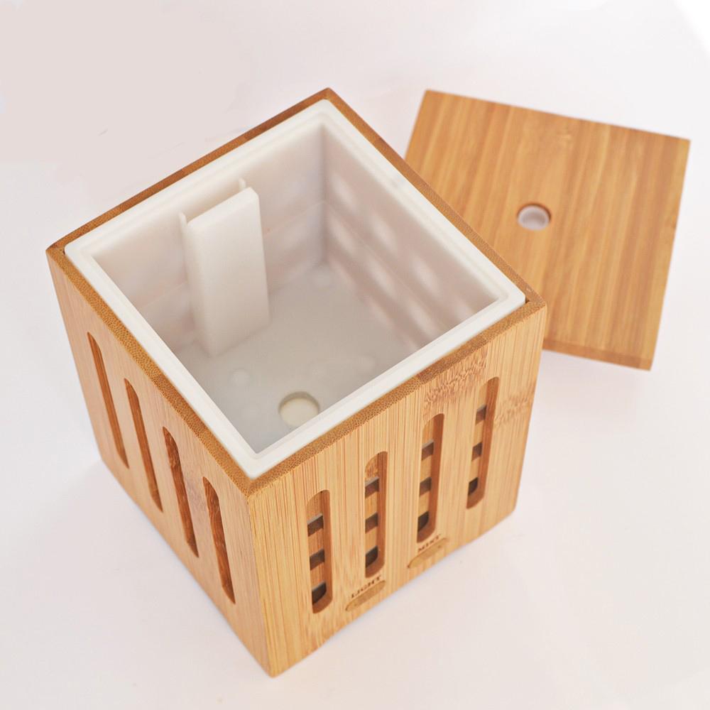 Máy khuếch tán tinh dầu hộp vuông bằng gỗ