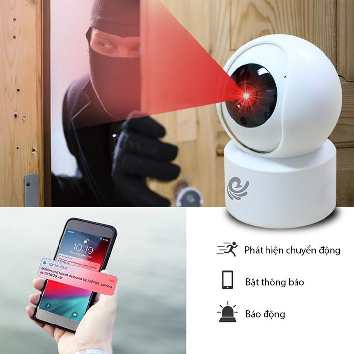 Camera Wifi Xoay 360 Độ 2.0Mpx 1920*1080P FULL HD Có Tích Hợp Đèn Hồng Ngoại Quan Sát Ban Đêm, Kèm Thẻ 32Gb - Chính Hãng