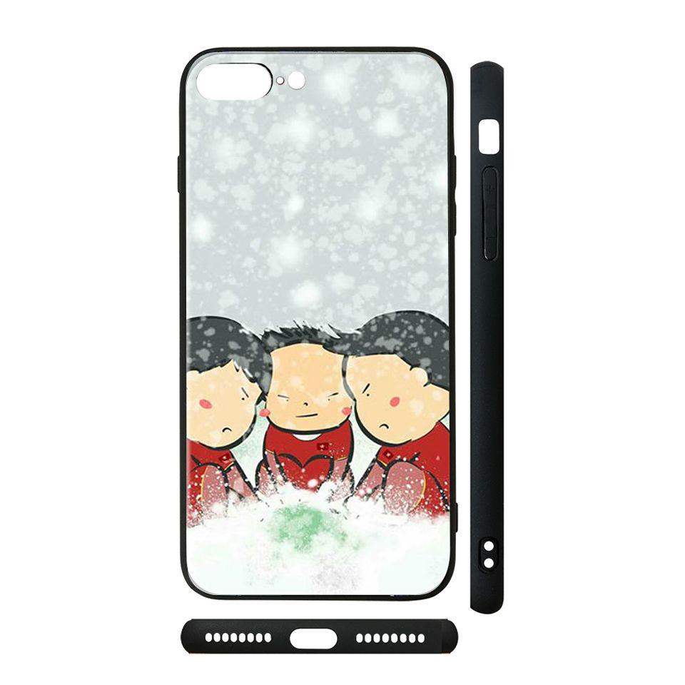 Ốp kính cho iPhone in hình U23 Việt Nam trên tuyết - Chib012 có đủ mã máy - iPhone 5 - 5s