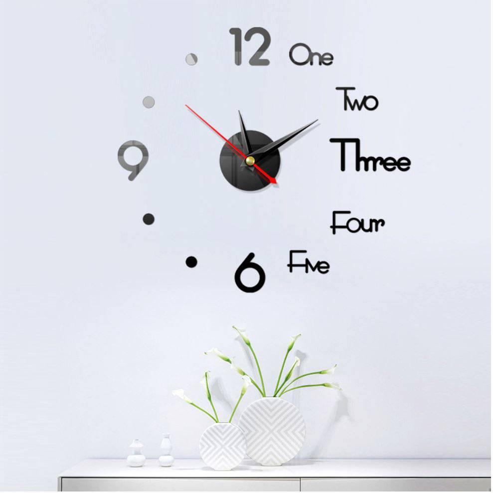 Đồng hồ dán tường GRAGAS 3D trang trí độc đáo