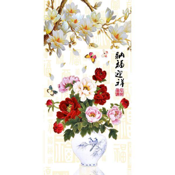 Decal Dán Tường - Tranh Bình Hoa - T3M--3330-copy