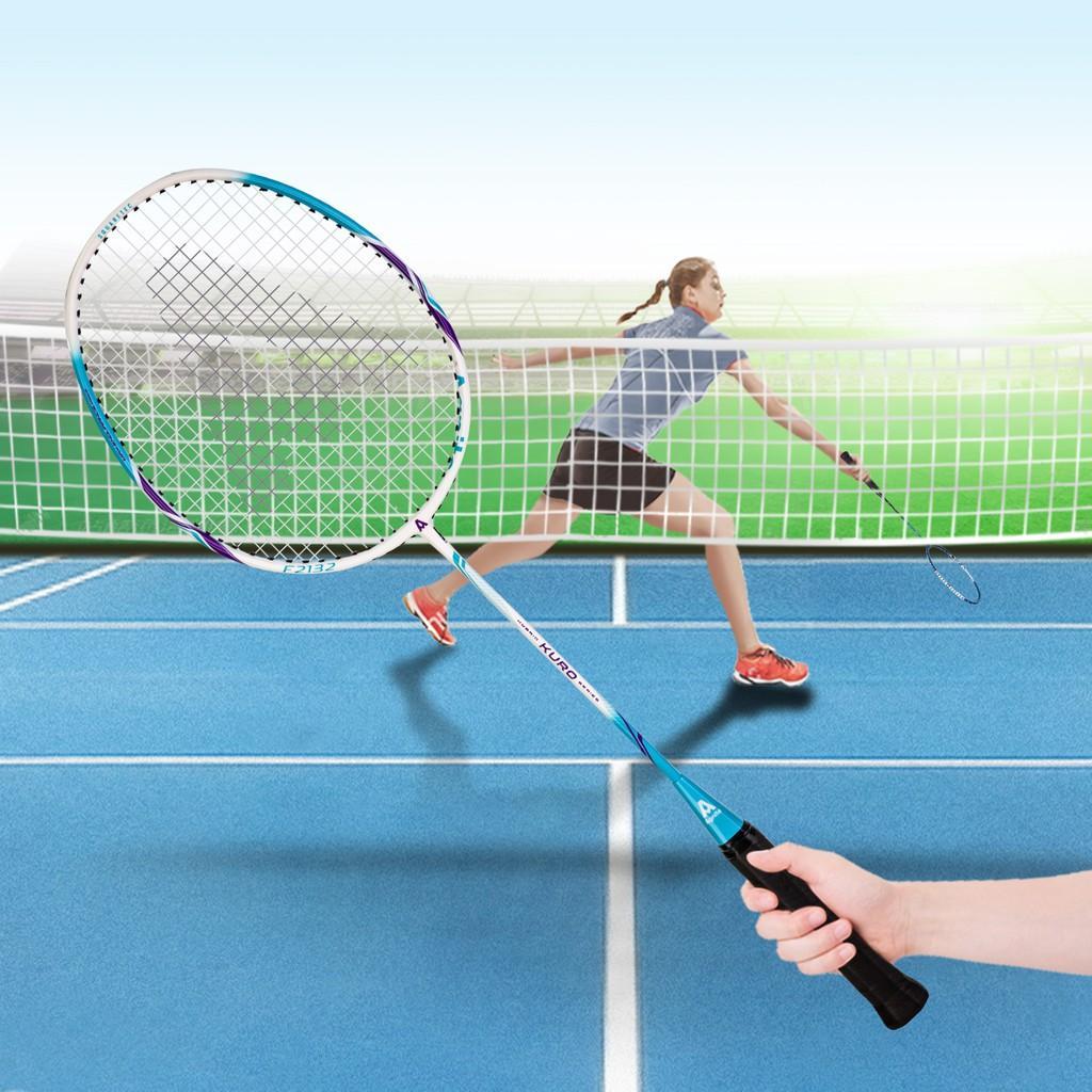 Cặp vợt cầu lông cán liền nhôm carbon quấn cao su Agnite - Kèm bao vợt cao cấp và cầu lông - 2 chiếc - F2132