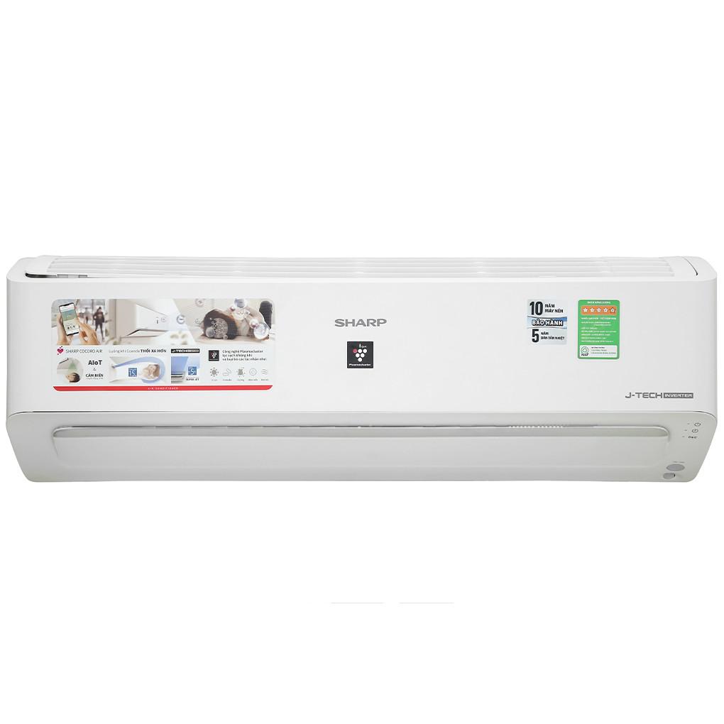 Máy lạnh Sharp Inverter 1.0 HP AH-XP10YMW Model 2021 - Hàng chính hãng (chỉ giao HCM)
