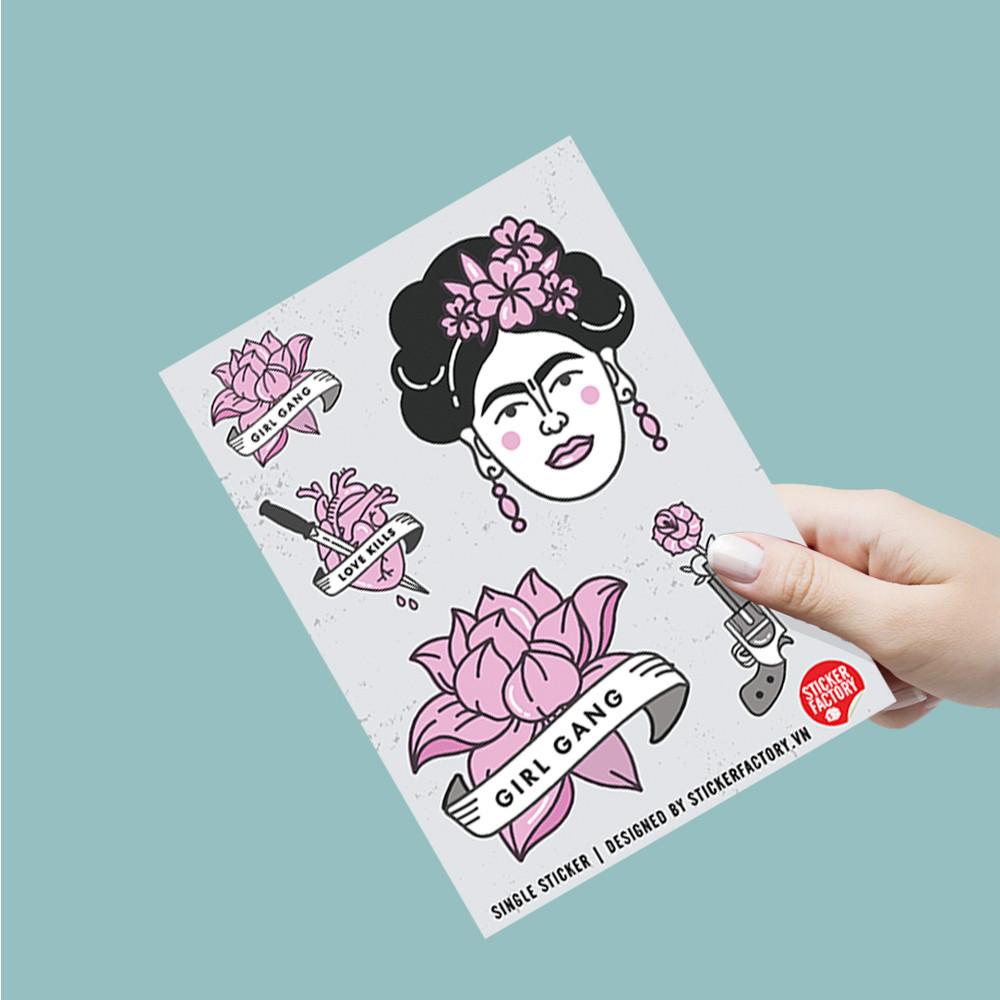 Girl gang - Single Sticker hình dán lẻ