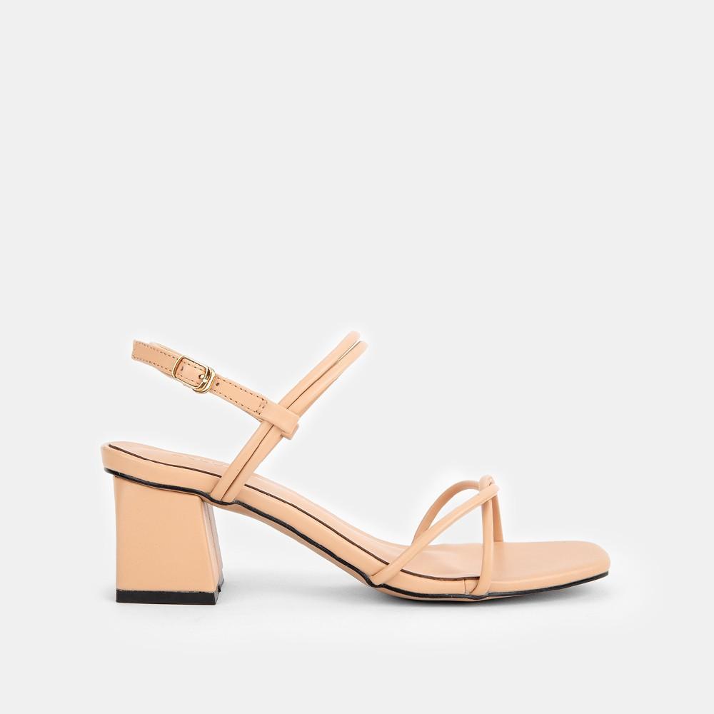 Giày Sandal Zelda Star cao gót vuông 5cm quai ngang mảnh - SN009820