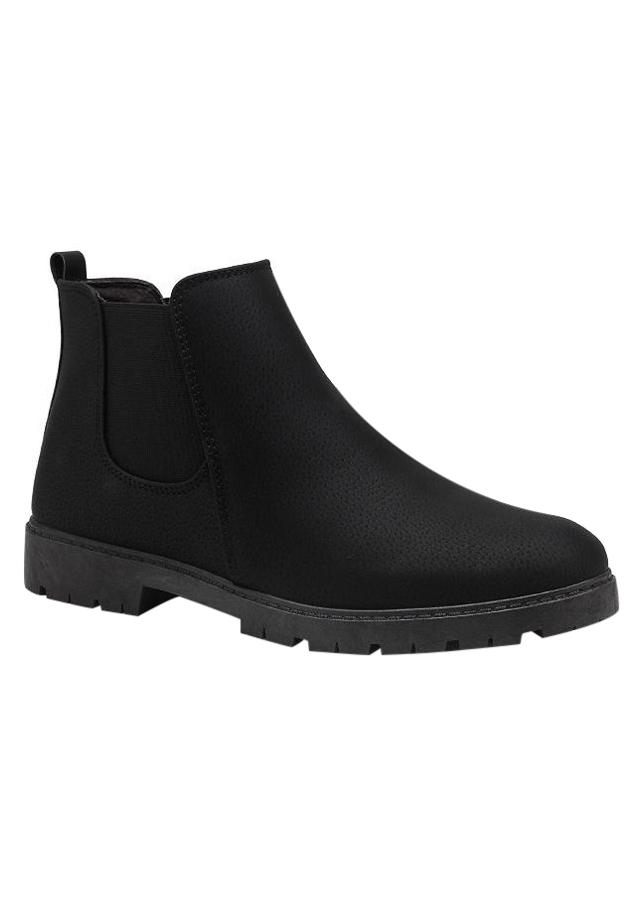 Giày Boot Nam Cổ Ngắn Martin - Đen