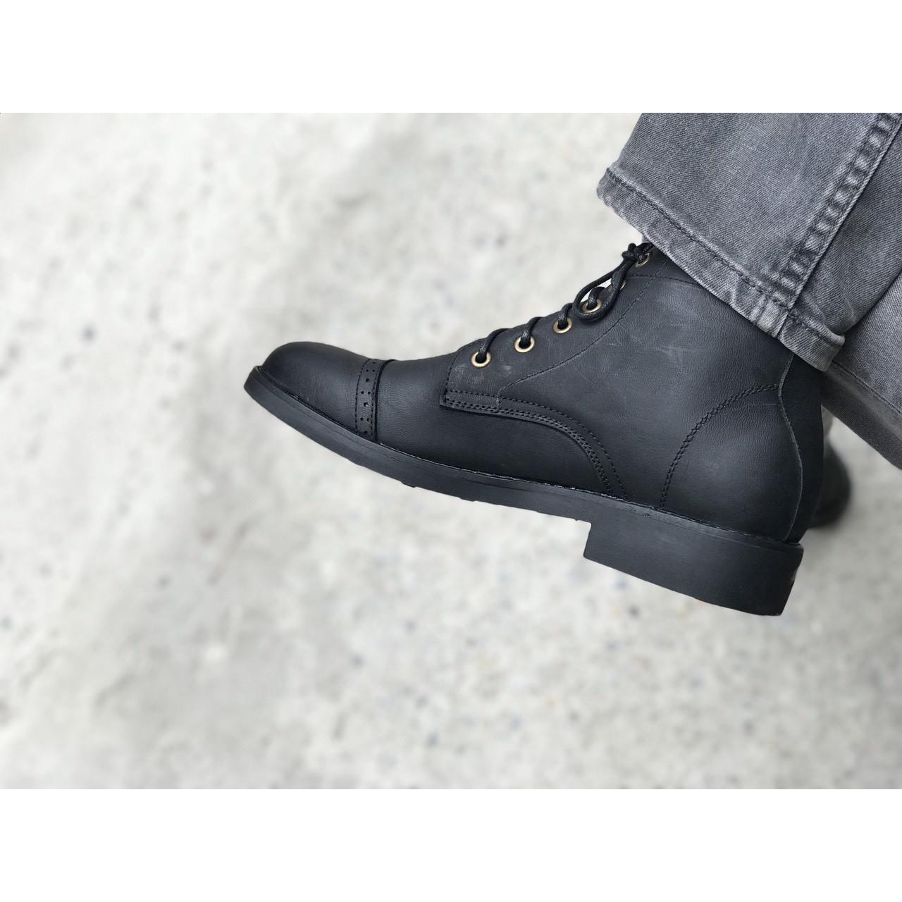 Giày cao cổ nam da bò sáp MAD Iron Boots