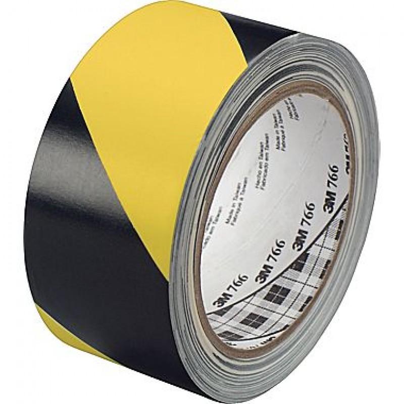 Băng keo dán nền cảnh báo 3M 766 50mm x 33m (vàng sọc đen)