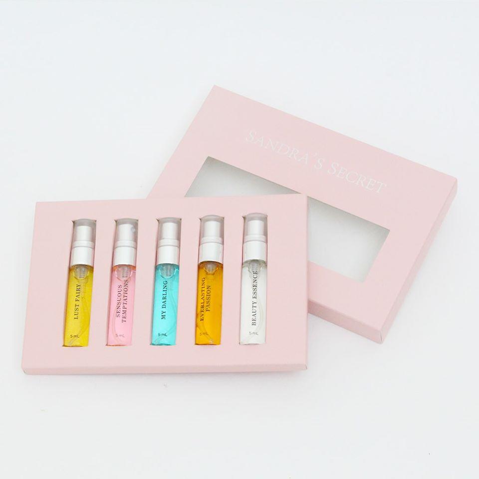 Set 5 chai nước hoa nữ SANDRA SECRET FULL 5ml*5