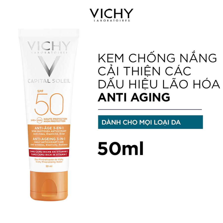 Bộ Kem Chống Nắng Ngăn Ngừa Các Dấu Hiệu Lão Hóa Vichy Capital Soleil Anti-Age
