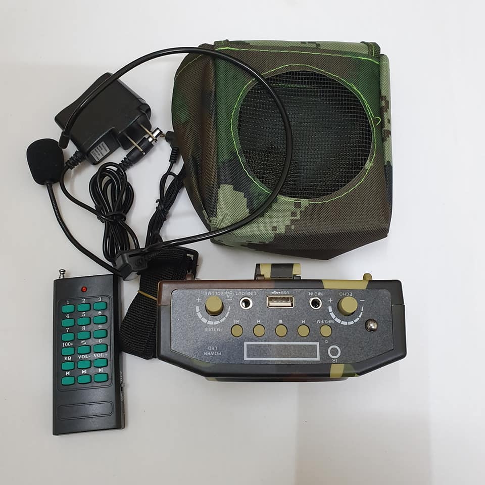 Loa trợ giảng bẫy chim E-898 điều khiển từ xa 500m màu bộ đội