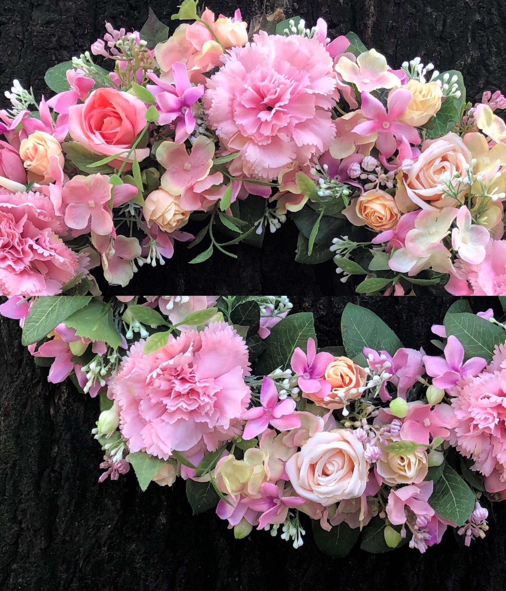 Vòng Hoa Vải Handmade V16120