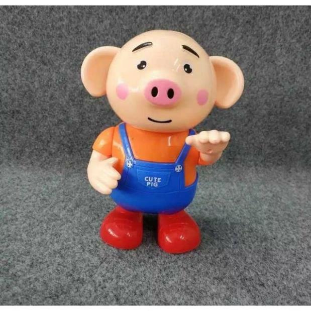 Combo bộ đồ chơi thả hình 4 trụ và chú heo biết nhảy biết hát cho bé