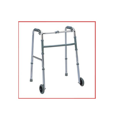 Khung tập đi có bánh xe dành cho người già, người khuyết tật