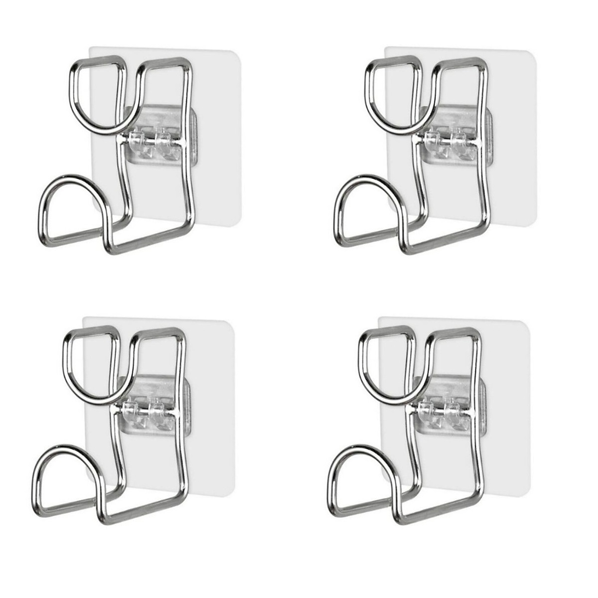 Combo 4 Móc treo đồ dán tường inox dùng cho nhà bếp, phòng tắm