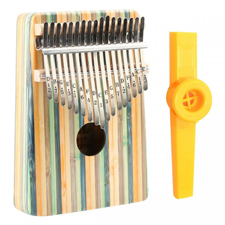 Đàn Kalimba 17 phím Gỗ Yael Tặng Kèm Kèn Kazoo - Rainbow