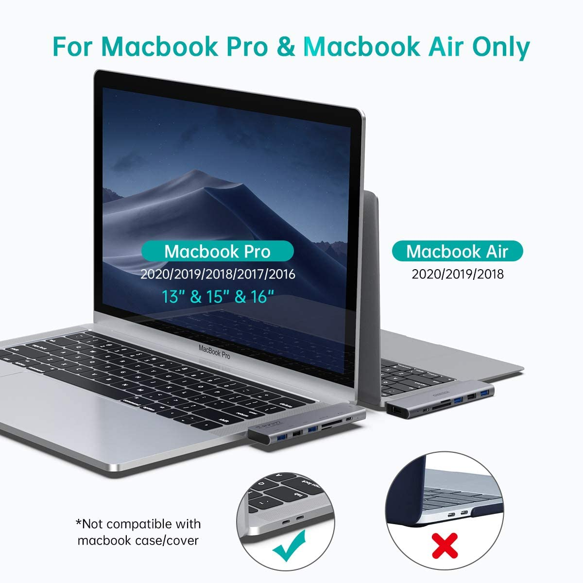 Hub type c chia cổng  Dual Type-C 7 in 1 hỗ trợ sạc nhanh 100W cho Macbook / laptop Type-C hiệu CHOETECH M23 ra 3 cổng USB 3.0, 1 cổng USB 2.0, Cổng đọc thẻ SD & Micro SD, sạc nhanh chuẩn Thunderbolt 3 0 - Hàng chính hãng
