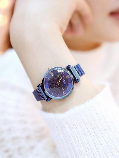 Đồng hồ nữ BS mặt đính đá sang trọng dây titanium cao cấp