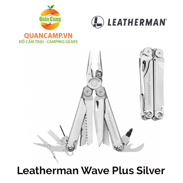 Dụng cụ cầm tay đa năng Leatherman Wave Plus Silver (17 tools)