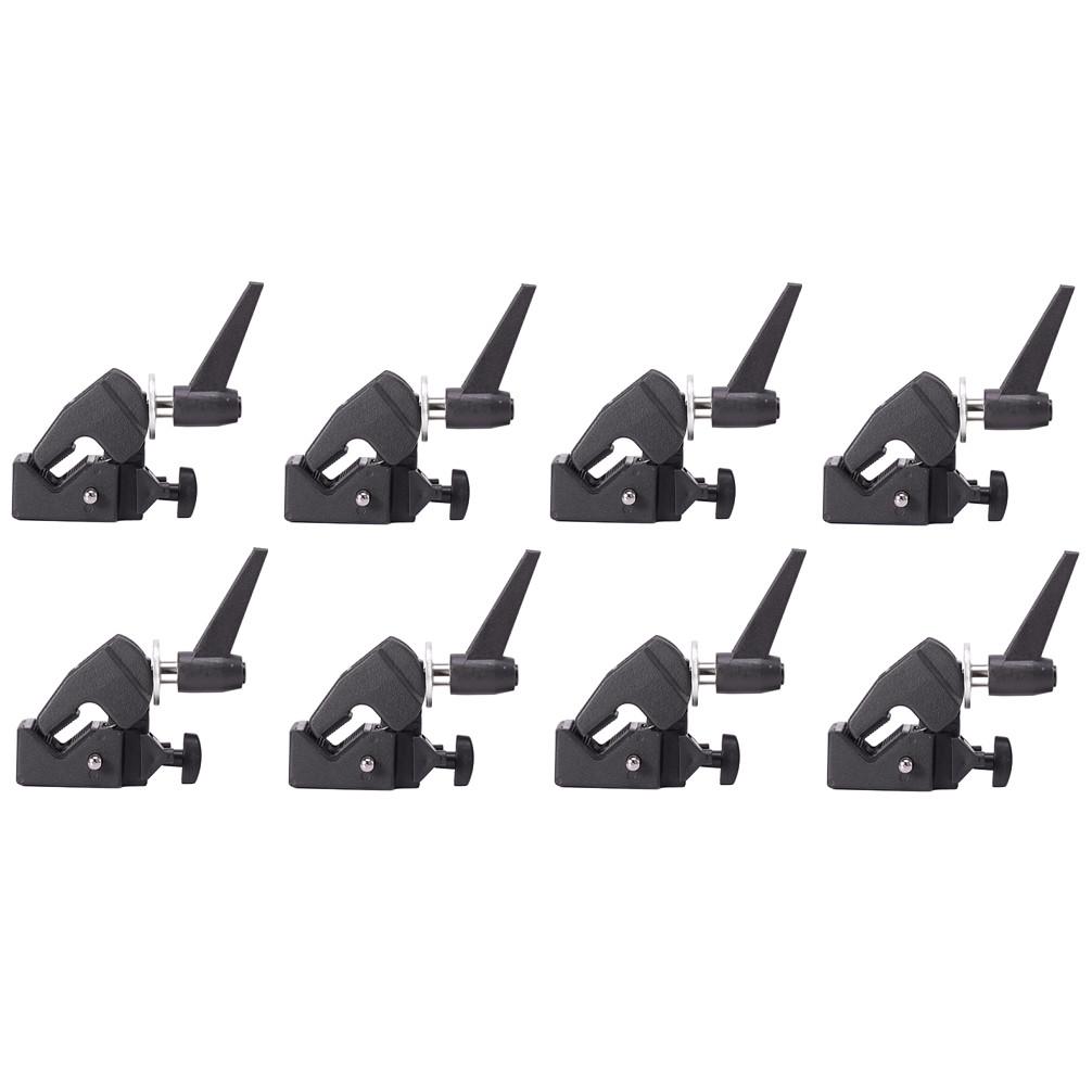 Bộ 8 Kẹp giữ đèn đa năng Super Clamp