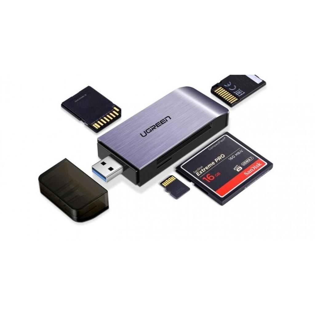 Đầu đọc thẻ nhớ SD/TF/CF/MS chuẩn USB 3.0 Ugreen 50541 chính hãng
