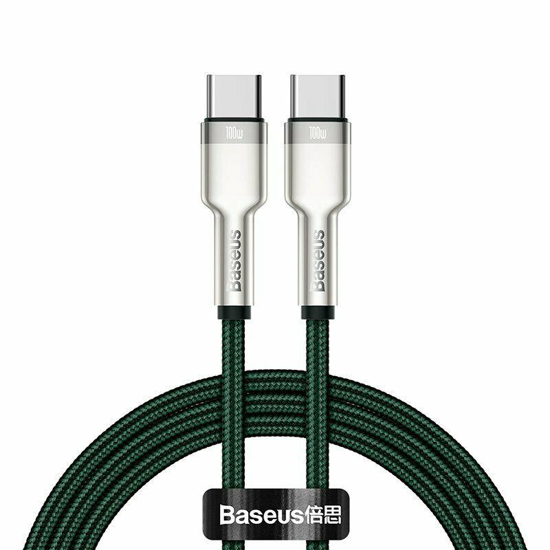 Cáp sạc Baseus Type C 100W, Cáp sạc siêu nhanh 100W Baseus Metal Data Cable Type C to Type C (100W) - Hàng nhập khẩu