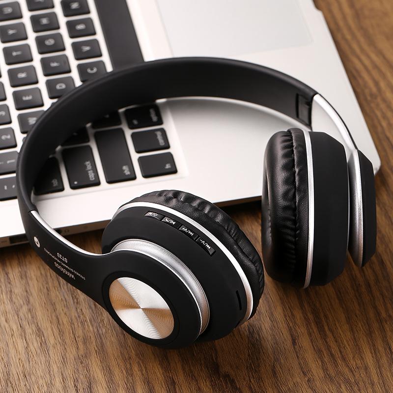 Tai nghe Bluetooth không dây ST-33 Hỗ Trợ Thẻ Nhớ, Đài FM, Có Thể Gấp Gọn Gàng - Hàng Nhập Khẩu