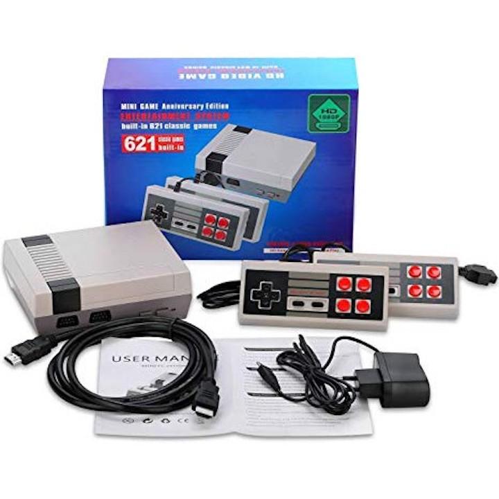 Máy chơi điện tử 4 nút HDMI SNES Super NES 621 trò chơi không trùng