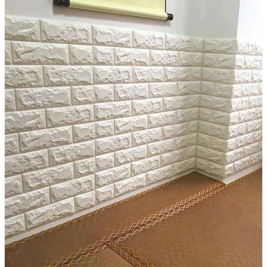 Combo 10 tấm xốp dán tường giả gạch 5mm - Giấy dán tường giả gỗ, giả gạch  Thương hiệu OEM | SieuThiChoLon.com