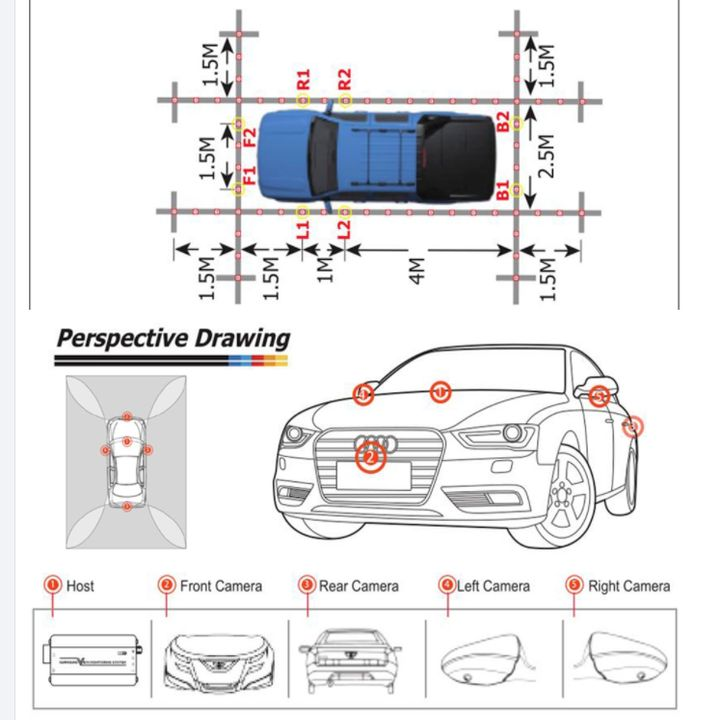 Camera hành trình 360 độ 3D HD366 cao cấp chuẩn AHD 1080P dùng được cho tất cả các loại xe có màn hình hiển thị trên xe